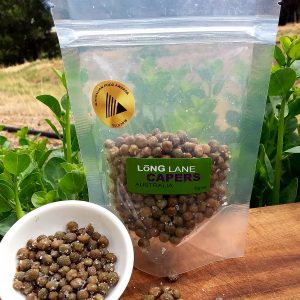 70g resealable pouch salted capers